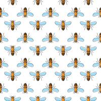 Bee vector seamless pattern for textile design, wallpaper, wrapping paper