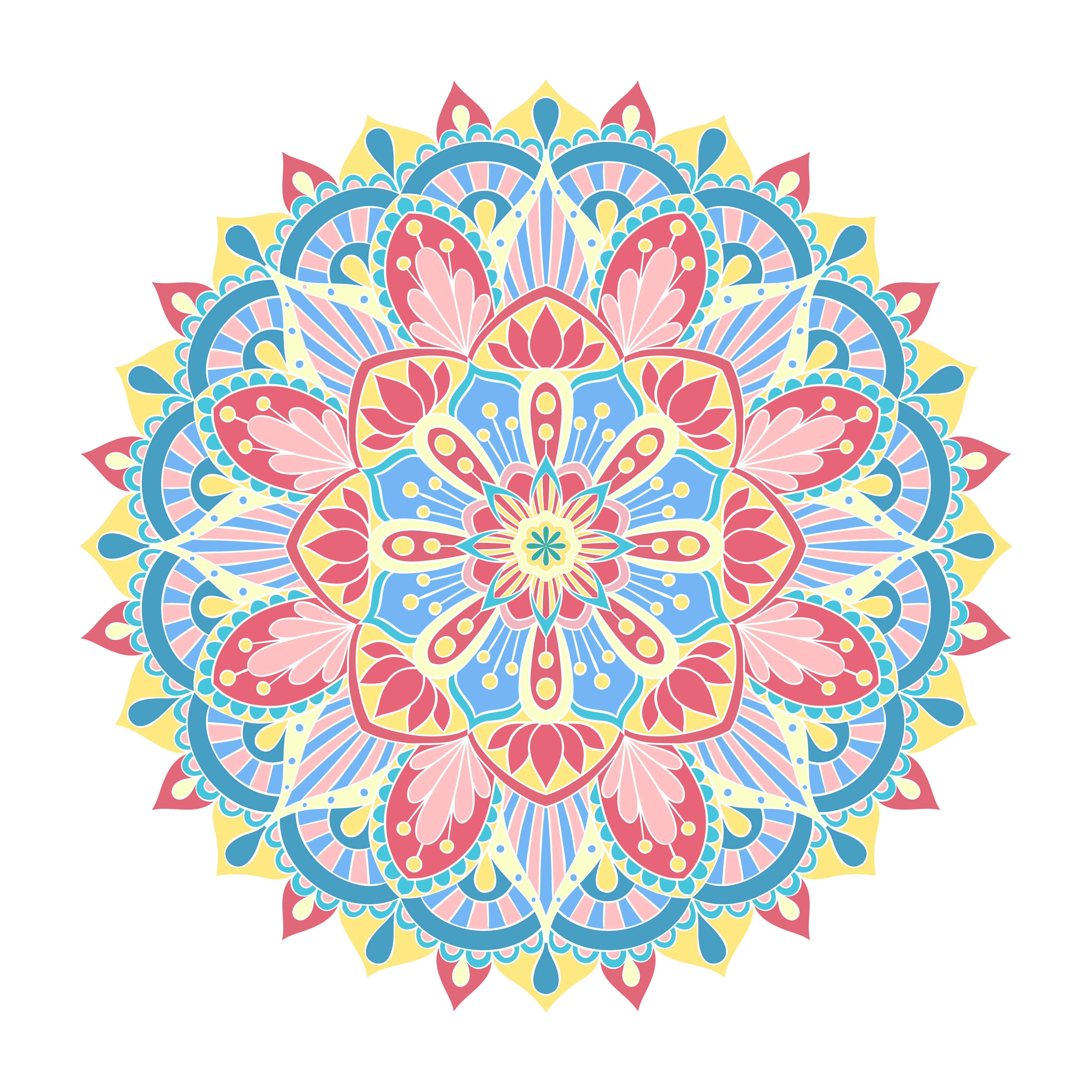 Vector Mandala Ornament Vintage Decorative Elements Oriental