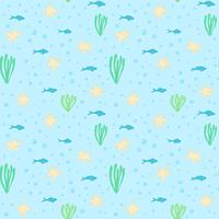 Underwater seamless pattern. Seamless pattern with underwater elements.Seamless