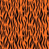 Abstract animal print. Seamless vector pattern with tiger stripes. Textile repeating tiger fur background