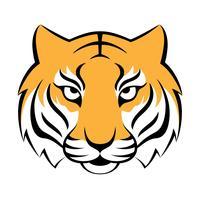 Ícone de tigre. Ilustração vetorial para design de logotipo, impressão de t-shirt. Mascote do tigre.