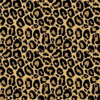 Vector seamless pattern with leopard fur texture. Repeating leopard fur background for textile design, wrapping paper, wallpaper or scrapbooking.