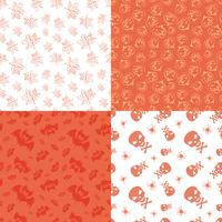 Set of 4 halloween seamless backgrounds.