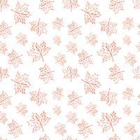 Padrão de vetor sem costura com folhas de outono. Dia das Bruxas que repete o fundo das folhas de outono para a cópia de matéria têxtil, papel de envolvimento ou scrapbooking.
