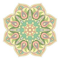 Vector Mandala. Oriental decorative element. Islam, Arabic, Indian, turkish, pakistan, chinese, ottoman motifs. Ethnic design elements. Hand drawn mandala. Colorful mandala symbol for your design.