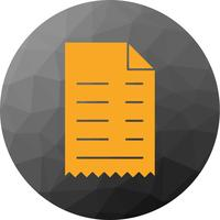 Vector Receipt Icon