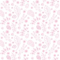 Seamless pattern with cute rabbits. Easter background.