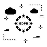 Vektor GDPR Symbol Sekretess Ikon
