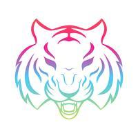 Tijger pictogram geïsoleerd op een witte achtergrond. Tijger logo sjabloon, tattoo ontwerp, t-shirt afdrukken.
