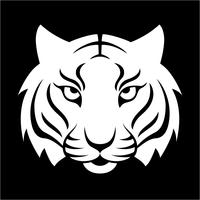 Tiger-Symbol. Vektorillustration für Logodesign, T-Shirt Druck. Tiger Maskottchen.