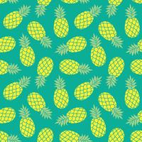 Pineapple vector background. Summer colorful  tropical textile print.