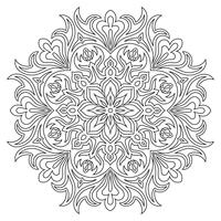 Ethnic mandala symbol for coloring book. Anti-stress therapy pattern.
