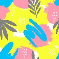 Patrón creativo sin fisuras Fondo artístico de repetición con formas abstractas dibujados a mano. Diseño para textil, papel de pared, póster, tarjeta, invitación, scrapbooking, encabezado, portada, folleto, folleto.