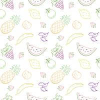 Seamless vector pattern with fruits and berries.