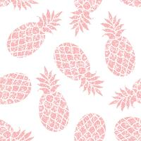 Pineapple vector seamless pattern for textile, scrapbooking or wrapping paper. Pineapple siluhette repeating ornament.