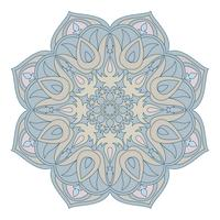 Vector mandala Elemento decorativo oriental. Islam, árabe, indio, turco, pakistán, chino, motivos otomanos. Elementos de diseño étnico. Mandala dibujado a mano. Símbolo de mandala colorido para su diseño.