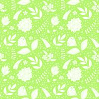 Seamless vector pattern with floral elements.