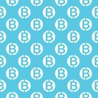 Padrão sem emenda de vetor com bitcoins. Fundo de repetição de criptocorrência.