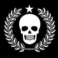 military emblem with skull,