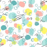 Seamless creative pattern. Artistic repeating background with abstract hand drawn shapes. Design for textile, wallpapper, poster, card, invitation, scrapbooking, header, cover,  brochure, flyer.