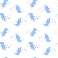 Vector seamless pattern with cute crawling baby boy.
