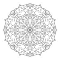 Vector Mandala. Oosters decoratief element.