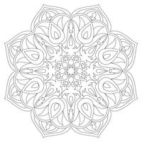 Mandala. Ethnic decorative elements. Hand drawn background. Islam, Arabic, Indian, ottoman motifs.Monochrome mandala symbol. Mandala JPG. Black contour mandala. Traditional mandala. Vector mandala.