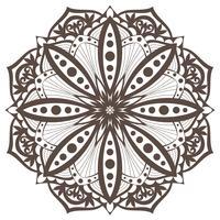 Vector mandala Elemento decorativo oriental. Elemento de diseño étnico.