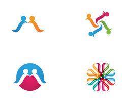 S Leute Gemeinschaftseinheitsteam-Logovektoren