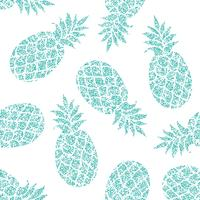 Pineapple vector seamless pattern for textile