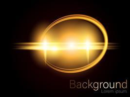 Scintillio dell'oro, spazzola del cerchio, separato su una priorità bassa nera Vettore dorato
