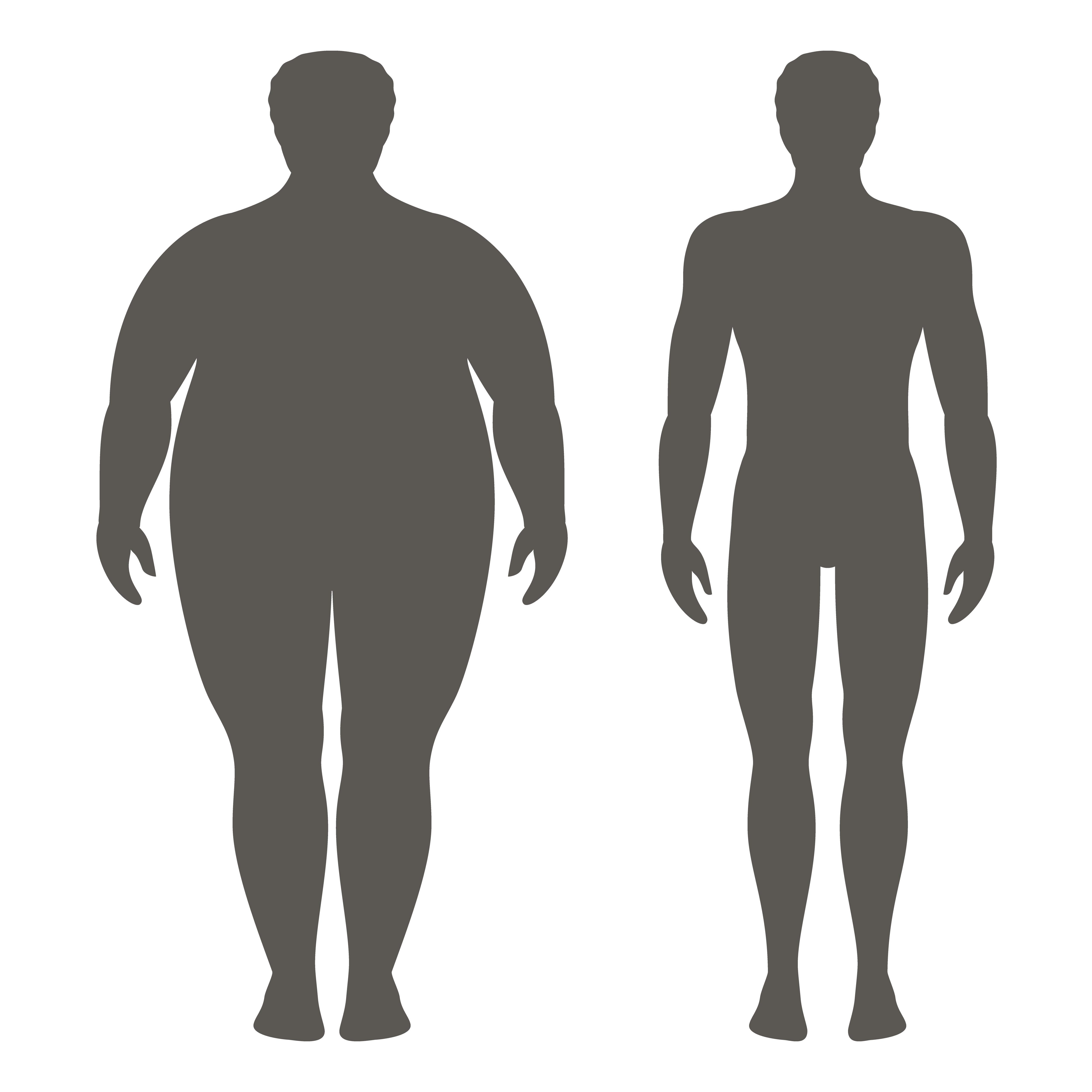 foto prima e dopo la perdita di pesona