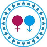Vector feminino e masculino ícone