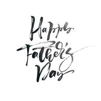 Happy fathers day hand drawn calligraphic lettering text design. Vector calligraphy illustration isoladed quote. Typography poster. Use for greeting card, tag, poster