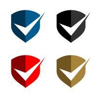 Vinkje Schild Logo Template Illustratie Ontwerp. Vector EPS 10.
