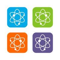 Projeto colorido da ilustração do projeto da ilustração do molde da química da química da ciência. Vetor eps 10