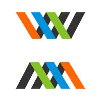 W and M Letter Logo Template Illustration Design. Vector EPS 10.