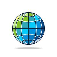 Vecteur coloré de Globe Logo Design Illustration Illustration. Vecteur EPS 10.