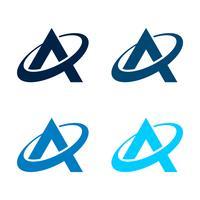 Metta una lettera Logo Template Illustration Design. Vettore ENV 10.