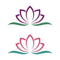Progettazione dell'illustrazione di progettazione dell'illustrazione del modello di Logo del fiore del giglio o del loto. Vettore ENV 10.