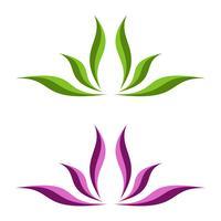 Blume Ornamental für Badekurort Logo Illustration Design. Vektor EPS 10.