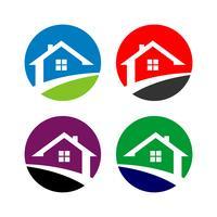 Cirkel Hem vektor Logo Mall Illustration Design. Vektor EPS 10.