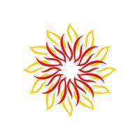 Geist-Stern für Yoga Logo Template Illustration Design. Vektor EPS 10.