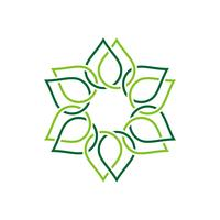Grüne Grenze-dekoratives Blumen-Logo Template Illustration Design. Vektor EPS 10.