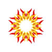 Estrela do espírito para o projeto da ilustração do molde do logotipo da ioga. Vetor eps 10