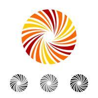 Lutscher-Süßigkeitsvektor Logo Template Illustration Design. Vektor EPS 10.