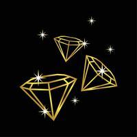 Gouden diamant Logo sjabloon afbeelding ontwerp. Vector EPS 10.