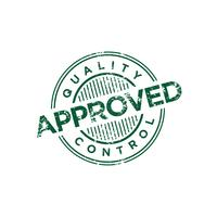 Approved Quality Control Stamp vector template