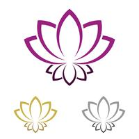Lotus or Lily Flower Logo Template Illustration Design. Vector EPS 10.