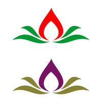 Badekurort-Blumenvektor Logo Template Illustration Design. Vektor EPS 10.